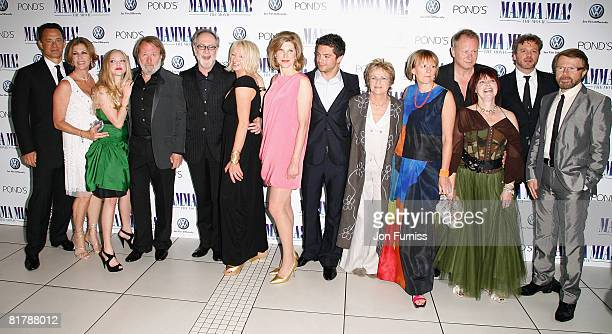 Executive producers Tom Hanks, Rita Wilson, actress Amanda Seyfried, executive producer and member of Abba Benny Andersson, guest, producer Judy...