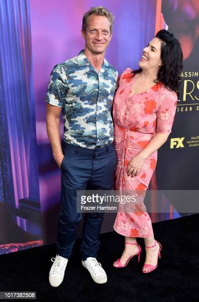 Executive Producers Tom Rob Smith and Alexis Martin Woodall attend the Panel And Photo Call For FX's 'The Assassination Of Gianni Versace American...