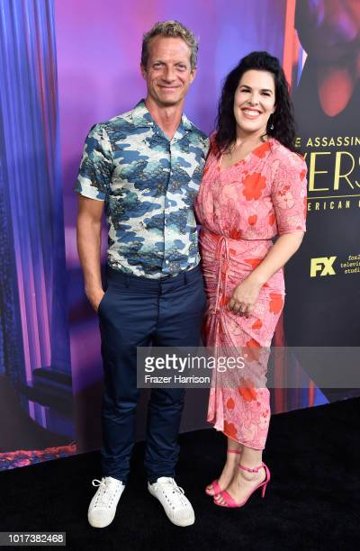 Executive Producers Tom Rob Smithl and Alexis Martin Woodall attend the Panel And Photo Call For FX's 'The Assassination Of Gianni Versace American...
