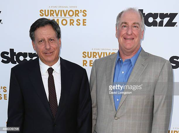 Executive producers Tom Werner and Paul Wachter attend the premiere of Starz 'Survivor's Remorse' at the Wallis Annenberg Center for the Performing...