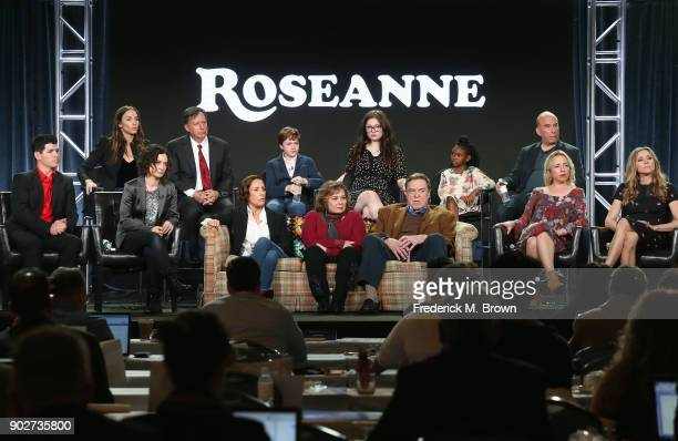 Executive producers Whitney Cummings and Tom Werner actors Ames McNamera Emma Kenney Jayden Rey executive producer Bruce Helford actor Michael...
