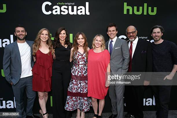 Executive producers Zander Lehmann and Helen Estabrook actors Michaela Watkins and Tara Lynne Barr executive producer Liz Tigelaar actors Tommy Dewey...