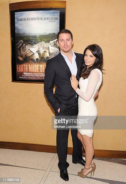 Executive producers/actors Channing Tatum and wife Jenna Dewan Tatum attend the HBO Documentary Screening of Earth Made Of Glass at HBO Theater on...