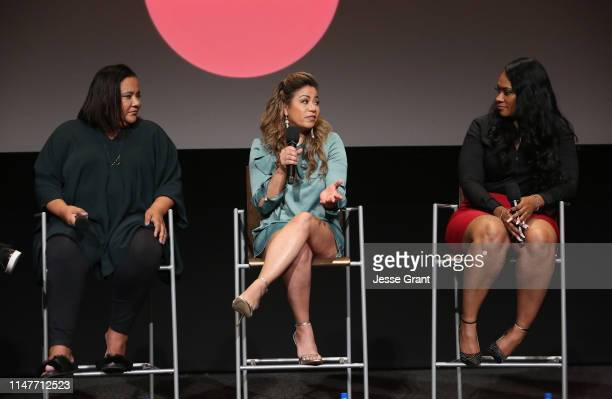 """Executive producer/showrunner dream hampton Lizzette Martinez and Lisa Van Allen attend Lifetime's """"Surviving R Kelly"""" Emmy FYC Screening on May 07..."""