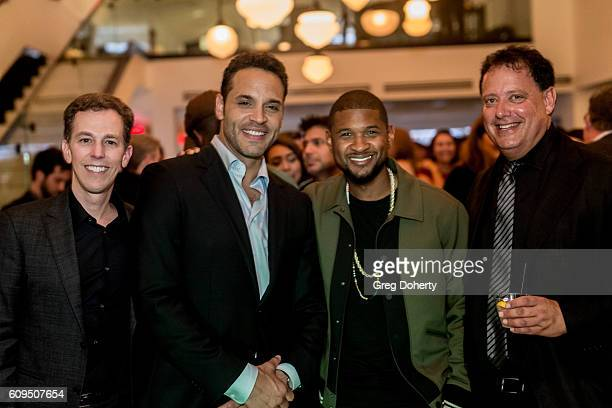 Executive Producer/Showrunner Josh Berman, Actor Daniel Sunjata, Singer Usher and Executive Producer Kenny Meiselas attend the Premiere Of ABC's...