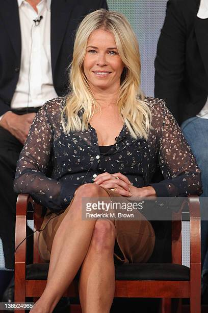Executive Producer/Star Chelsea Handler speaks onstage during the Are You There Chelsea panel during the NBCUniversal portion of the 2012 Winter TCA...