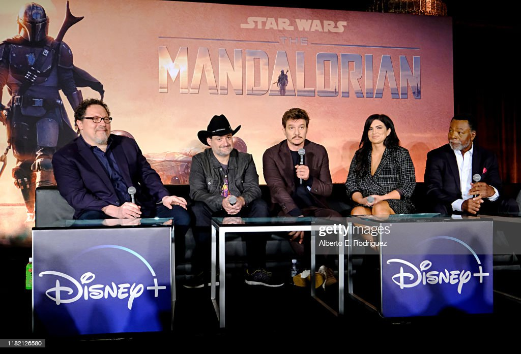 Press Conference for the Disney+ Exclusive Series The Mandalorian : News Photo