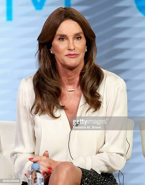 Executive producer/tv personality Caitlyn Jenner speaks onstage during the 'I Am Cait' panel discussion at the NBCUniversal portion of the 2016...