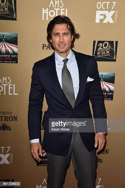 Executive producer/writer Brad Falchuk attends the premiere screening of FX's 'American Horror Story Hotel' at Regal Cinemas LA Live on October 3...