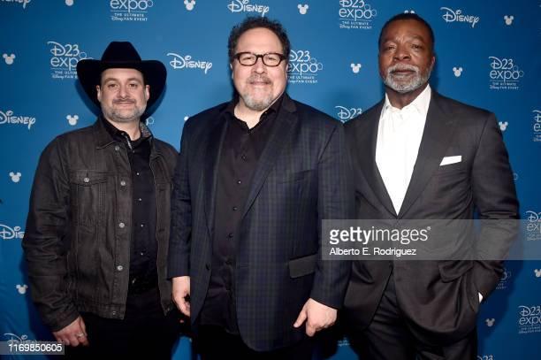 Executive producer/writer Dave Filoni, Executive producer/writer Jon Favreau, and Carl Weathers of 'The Mandalorian' took part today in the Disney+...