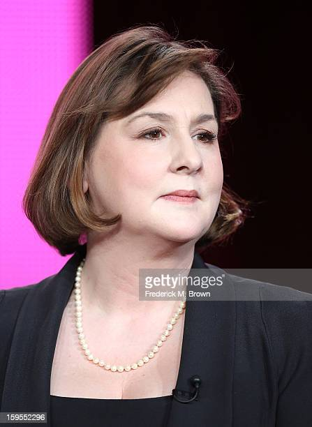 Executive producer/writer Heidi Thomas speak onstage during the Call The Midwife panel discussion during the PBS Portion Day 2 of the 2013 Winter...