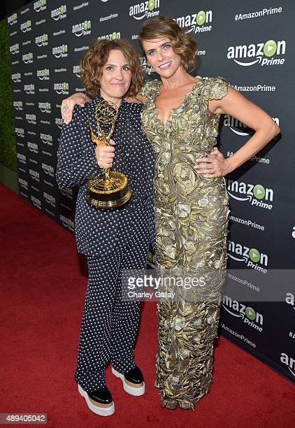 Executive producer/writer Jill Soloway and actress Amy Landecker attend Amazon Prime's Emmy Celebration at The Standard Hotel on September 20 2015 in...