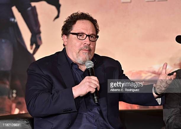 Executive producer/writer Jon Favreau of Lucasfilm's The Mandalorian at the Disney Global Press Day on October 19 2019 in Los Angeles California The...