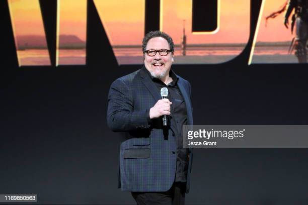 Executive producer/writer Jon Favreau of 'The Mandalorian' took part today in the Disney+ Showcase at Disney's D23 EXPO 2019 in Anaheim, Calif. 'The...