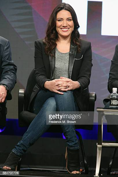 Executive producer/writer Lisa Joy speaks onstage during the 'Westworld' panel discussion at the HBO portion of the 2016 Television Critics...