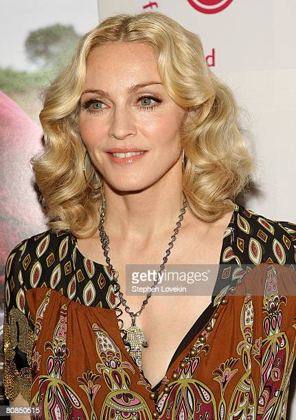 Executive Producer/writer Madonna attends the premiere of I Am Because We Are during the 2008 Tribeca Film Festival on April 24 2008 in New York City