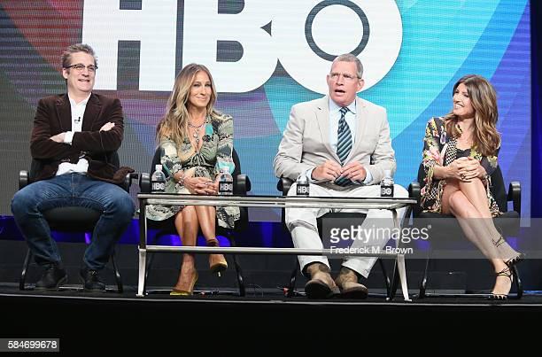 Executive producer/writer Paul Simms actors Sarah Jessica Parker Thomas Haden Church and executive producer/creator/writer Sharon Horgan speak...