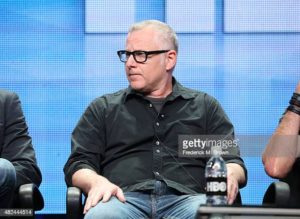 Executive producer/writer Tom Perrotta speaks onstage during the 'The Leftovers' panel discussion at the HBO portion of the 2015 Summer TCA Tour at...