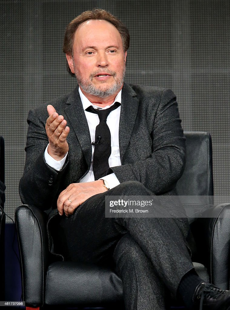 Executive producer/writer/actor Billy Crystal speaks onstage during the 'The Comedians' panel discussion at the FX Networks portion of the Television Critics Association press tour at Langham Hotel on January 18, 2015 in Pasadena, California.
