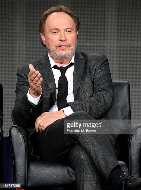 Executive producer/writer/actor Billy Crystal speaks onstage during the 'The Comedians' panel discussion at the FX Networks portion of the Television...