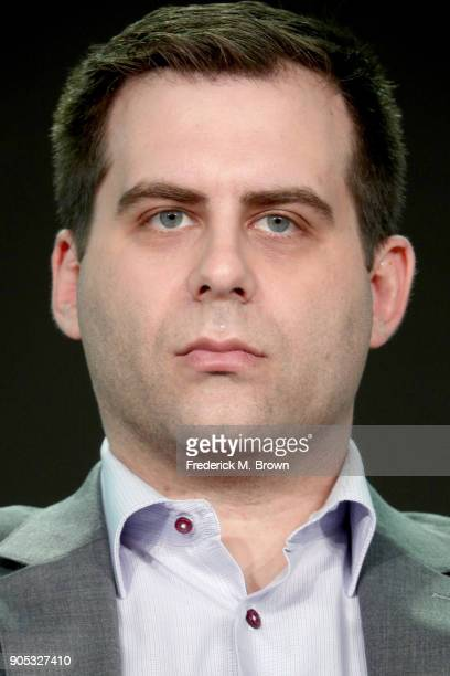Executive producer/Writer/Actor Jake Weisman of 'Corporate' speaks onstage during the Viacom portion of the 2018 Winter Television Critics...