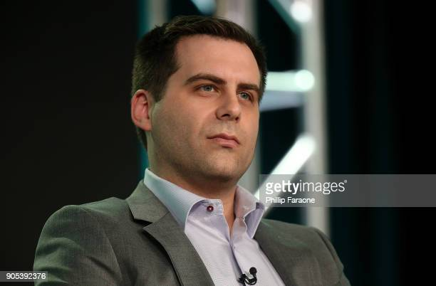 Executive producer/Writer/Actor Jake Weisman of 'Corporate' speaks onstage during the Comedy Central portion of the 2018 Winter TCA on January 15...