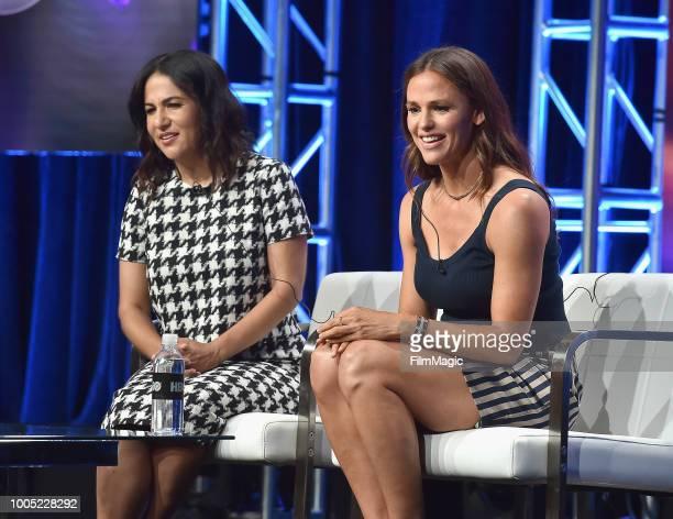 Executive producer/writer/director Jenni Jonner and Jennifer Garner speak onstage at HBO Summer TCA 2018 at The Beverly Hilton Hotel on July 25 2018...