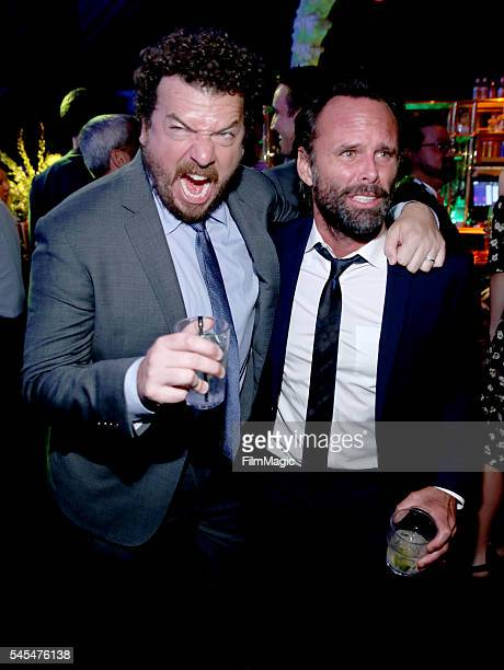 Executive producer/writer/director/actor Danny McBride and actor Walton Goggins attend the Los Angeles premiere of HBO's 'Vice Principals' at Avalon...
