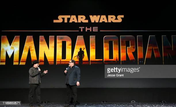 Executive producer/writers Dave Filoni and Jon Favreau of 'The Mandalorian' took part today in the Disney Showcase at Disney's D23 EXPO 2019 in...