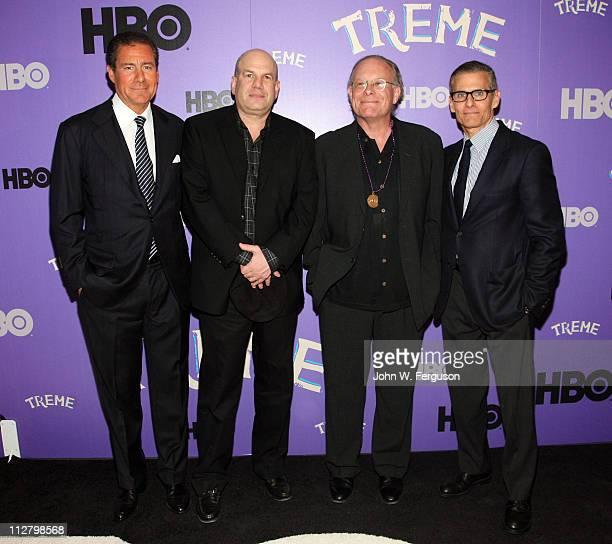 Executive Richard Butler, creator and executive director David Simon, executive producer Eric Overmyer and HBO executive Michael Lombardo attends the...