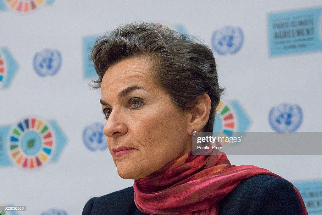 UNFCCC Executive Secretary Christiana Figueres participates... : News Photo