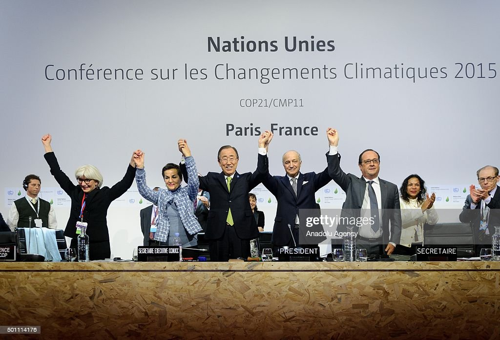 Climate change deal struck at Paris Summit : News Photo