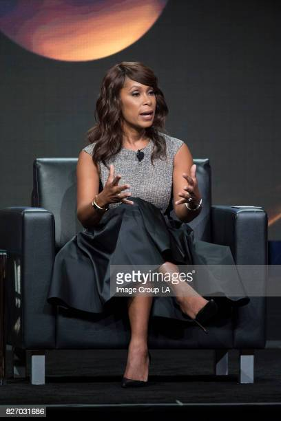 Executive Session Writing Time Channing Dungey addresses the press at Disney | ABC Television Group's Summer Press Tour 2017 at The Beverly Hilton in...
