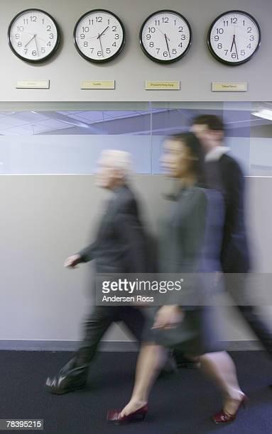 Executive team walking