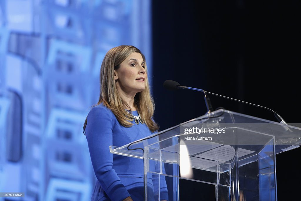 Executive Vice President and Chief Administration Officer, Beneficial Bank Joanne Ryder speaks during Pennsylvania Conference For Women at Pennsylvania Convention Center on November 19, 2015 in Philadelphia, Pennsylvania.