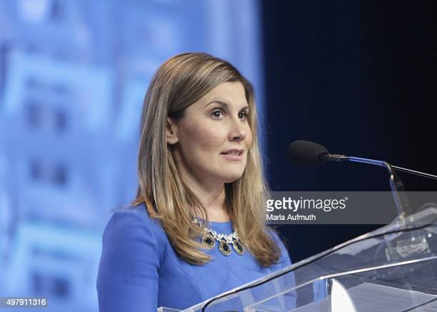 Executive Vice President and Chief Administration Officer Beneficial Bank Joanne Ryder speaks during Pennsylvania Conference For Women at...