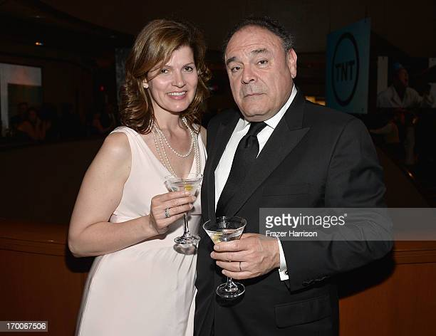 Executive Vice President and Chief Communications Officer CBS Corporation Gil Schwartz and wife Laura Schwartz attend a reception at the 41st AFI...