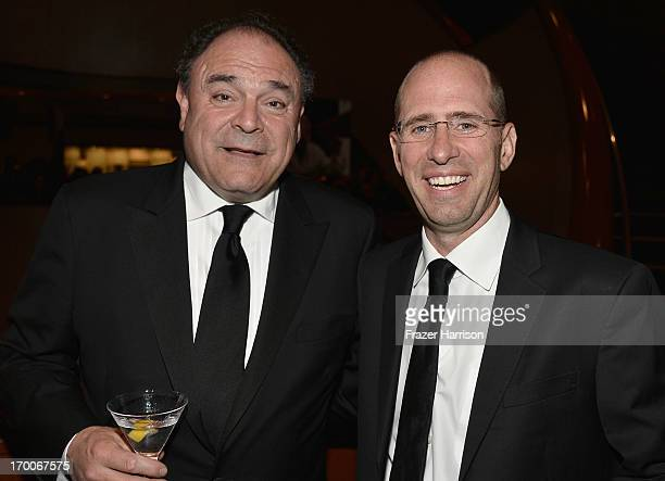 Executive Vice President and Chief Communications Officer CBS Corporation Gil Schwartz and producer Greg Garcia attend a reception at the 41st AFI...