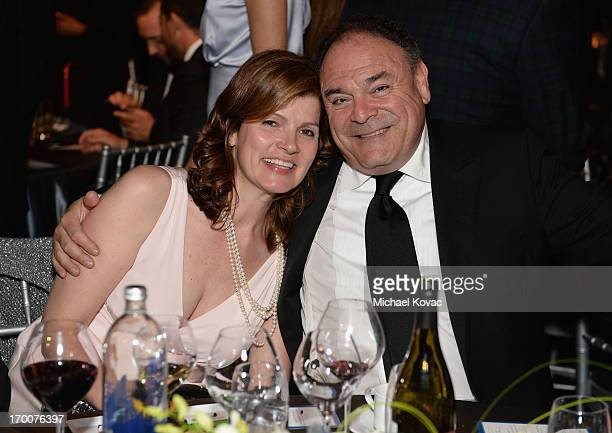 Executive Vice President and Chief Communications Officer CBS Corporation Gil Schwartz and wife Laura Schwartz attend 41st AFI Life Achievement Award...