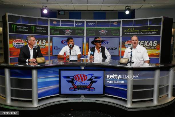 NASCAR Executive Vice President and Chief Global Sales and Marketing Officer Steve Phelps NASCAR driver Darrell Wallace Jr team owner Richard Petty...
