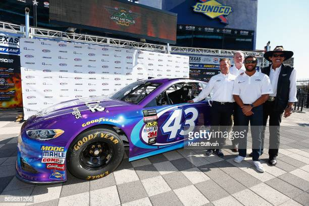 Executive Vice President and Chief Global Sales and Marketing Officer Steve Phelps NASCAR driver Darrell Wallace Jr team owner Richard Petty and...