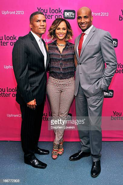 Executive Vice President and General Manager of Centric Paxton K Baker and actors Nicole Ari Parker and Boris Kodjoe attend the BET Networks 2013 New...