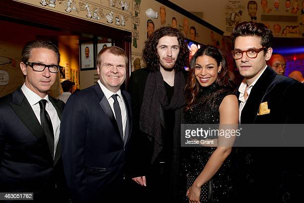 Executive Vice President and General Manager of Columbia Records Joel Klaiman Chairman of Colombia Records Rob Stringer and recording artists Hozier...
