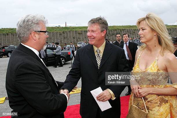 Executive Vice President and General Manager of TV Land Larry Jones actor Larry Wilcox and wife Marlene Harmon arrives at the 2005 TV Land Awards at...
