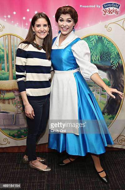 Executive Vice President and Producer for Feld Entertainment Alana Feld and Princess Belle attend The Moms 'Disney Live' Mamarazzi Event with Alana...