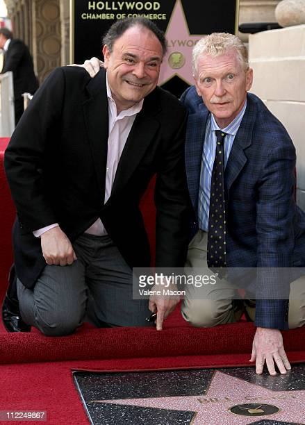 Executive Vice President CBS Corporation Gil Schwartz and CBS News correspondent Bill Geist attend the Bill Geist Hollywood Walk Of Fame Induction...
