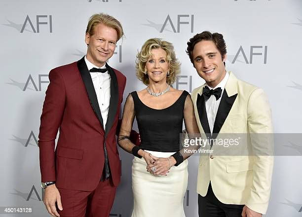 Executive Vice President Chief Operating Officer at Chello Latin America AMC Networks Marcello Coltro honoree Jane Fonda and actor Diego Boneta...