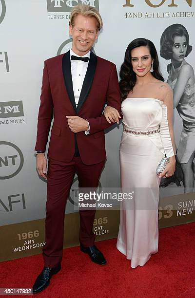 Executive Vice President Chief Operating Officer at Chello Latin America Marcello Coltro and actress Cleo Pires attend the 2014 AFI Life Achievement...