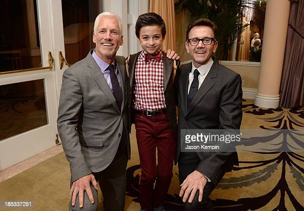 Executive Vice President Global Communications Disney/ABC Television Group at The Walt Disney Company Kevin Brockman actor JJ Totah and Chip Sullivan...