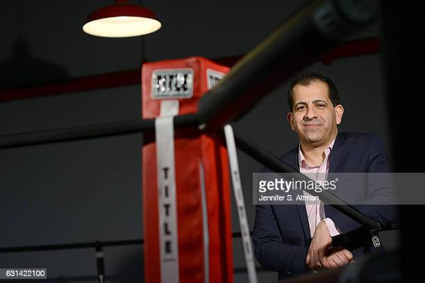 Executive Vice President in charge of sports programming at Showtime Stephen Espinoza is photographed for Los Angeles Times on November 22 2016 in...